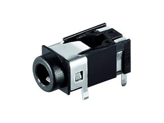 Klinkeneinbaubuchse - 3,5 mm - stereo, Plastikausführung mit 4 Kontakten