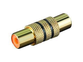 Audio-Adapter mit schwarzem Farbring, Cinch Kupplung>Cinch Kupplung(vergoldet)