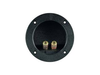 Lautsprecher-Terminal,2 pol., rot/schwarz,rund mit Farbring