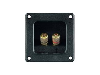 Lautsprecher-Terminal,2 pol., 75,9x75,9mm mit Metall Kappen