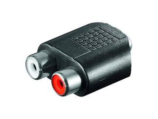 Audio-Adapter, 2xCinch Kupplung>3,5mm stereo Kuppl.
