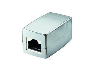 Modularkupplung Lose Ware, 2 x RJ45-Buchse geschirmt, 1:1, CAT Adapter