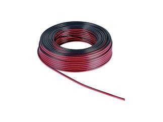 Lautsprecherkabel rot/schwarz, 50m Rolle, Querschnitt 2x0,75 mm², CU