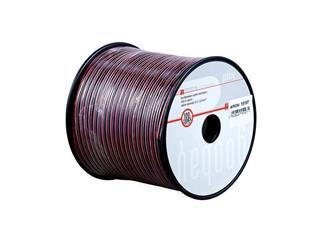 Lautsprecherkabel rot/schwarz, 100m Spule, Querschnitt 2x0,75 mm², CU