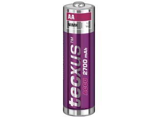 Tecxus AA Nickel-Metallhydrid Akku (NiMH), 1,2 V 1.2V 2700mAh 4er Pack
