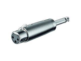 XLR- Adapter, 3-pol. XLR-Kupplung>6,35mm mono Stecker