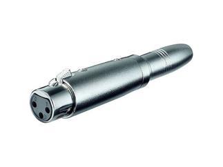 XLR- Adapter, 3pol. XLR-Kupplung > 6,35 mm mono Kuppl.
