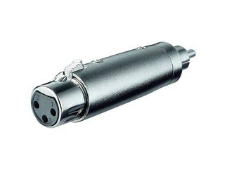 XLR- Adapter, 3-pol. XLR-Kupplung > Cinchstecker