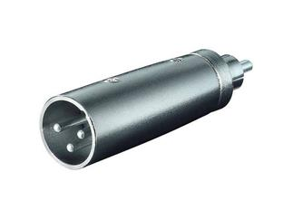 XLR- Adapter, 3-pol. XLR-Stecker > Cinchstecker
