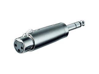 XLR- Adapter, 3-pol.XLR-Kupplung>6,35mm stereo Stecker