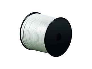 Lautsprecherkabel weiß, 100m Spule, Querschnitt 2x0,75 mm² CCA