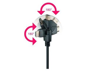 High Speed HDMI® with Ethernet 5,0 Meter, HDMI® A-Stecker>HDMI® A-Stecker drehbar