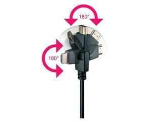 High Speed HDMI® with Ethernet 1,0 Meter, HDMI® A-Stecker>HDMI® A-Stecker drehbar