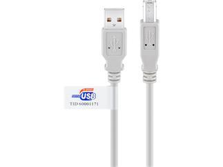 USB 2.0 Kabel Polybag, A Stecker > B Stecker