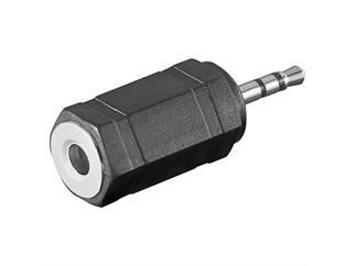 Audio-Adapter Polybag, 2,5mm stereo Stecker>3,5mm stereo Kuppl.