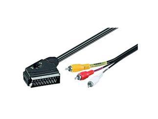 Audio-Video-Kabel 2,0 m Polybag, Scartstecker > 4 x Cinchstecker(aud/vid)
