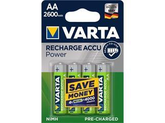 Varta AA (Mignon)/HR6 (5716) - 2600 mAh LSD-NiMH Akku (Ready-to-Use), 1,2 V