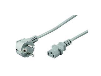 Netzkabel lose Ware, abgewinkelter Schutzkontakt >IEC 320 C13