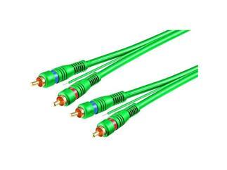 Audio-Video-Kabel 1,5 m grün lose Ware, 2 x Cinchstecker > 2 x Cinchstecker
