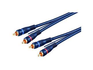 Audio-Video-Kabel 1,5 m violet lose Ware, 2 x Cinchstecker > 2 x Cinchstecker