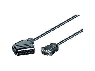 Audio-Video-Kabel 5,0 m lose Ware, Scartstecker>15-pol High-Density Stecker