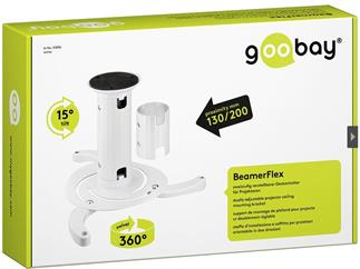 Goobay Beamer Flex Deckenhalter für Projektor zweistufig verstellbar
