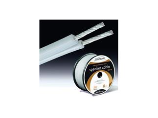 Clicktronic® SPEAKER CABLE, semi white, HIGH PERFORMANCE SERIES, 2 * 2,5 mm² OFC 100m Rolle