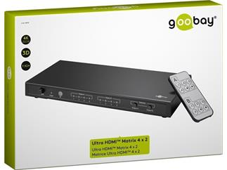 goobay Ultra HDMI™ Matrix 4 x 2