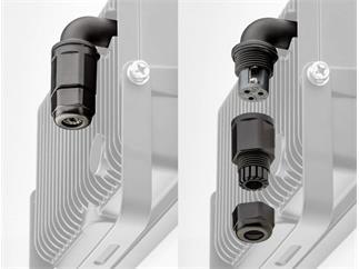 goobay LED Außen-Flutlichtstrahler weiß mit Bewegungsmelder, 30W