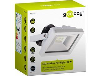 goobay LED Außen-Flutlichtstrahler weiß, 10W