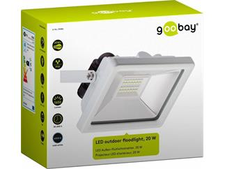 goobay LED Außen-Flutlichtstrahler weiß, 20W