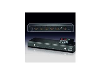Clicktronic® HDMI® Matrix/Switch 4 IN > 2 OUT, mit HDMI® Lock System, separatem digital Audio out