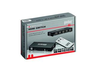 verbindet z.B. 5 Peripheriegeräte mit 1 LCD/Plasma TV, Fernbedienung, Netzteil und 2 sprachige Anleitung