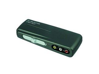 Audio-Video-Umschaltbox Blister Ware, 3 Eingänge - 1 Ausgang