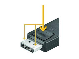 Displayport-Adapter Blister, 19-pol.HDMI-Buchse>20-pol.DP-Stecker