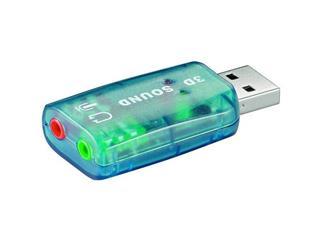 USB 2.0 Soundkarte Blister, USB A Stecker > 2x 3,5mm stereo Buchse