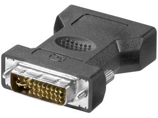 DVI analog - VGA Adapter Blister, DVI (12+5) Stecker > 15pol VGA HD-Buchse