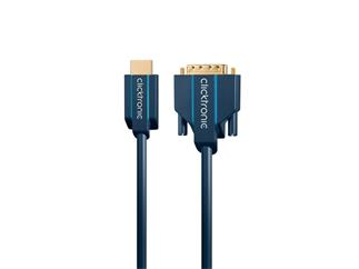 Clicktronic Casual HDMI™/DVI-Adapterkabel , 1,0m Video-Adapter