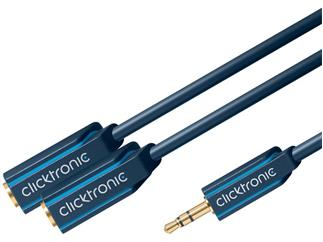 Clicktronic Casual MP3 Duo Sound Adapter, (3,5mm Klinken-St./2x3,5mm Klinken-Kup.)