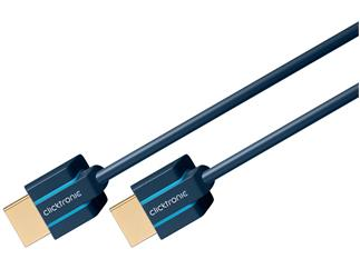 Clicktronic Ultraslim High Speed HDMI™ Kabel mit Ethernet, 1,5m, HD / 3D-TV