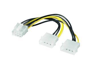 Internes Stromkabel Lose Ware, 2 x 5,25 Stecker > PCI Express 8 pin