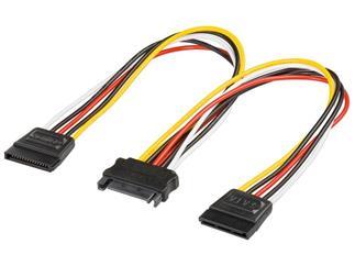 Internes Stromadapterkabel, SATA Kupplung > 2x SATA Stecker