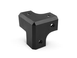 Adam Hall Hardware X 318787 - Boxenecke, Kunststoff schwarz, 45 mm