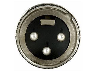 DAP XLR Stecker männlich, nickel, mit schwarzer Endkappe