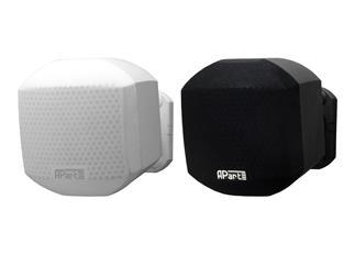 Apart MASK2-BL Mini Hifi Pro Design Lautsprecher, 8Ohm/50W, RAL9011 schwarz , inkl. Wandhalterung