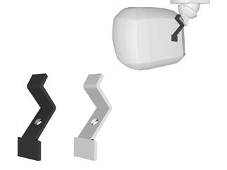 Apart MASK2CMT-BL Deckenhalterung für MASK2-BL, schwarz