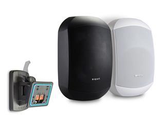 Apart MASK4CT-BL 2-Wege-Design-Lautsprecher, 100V/20W oder 16Ohm/70W, IP64, Clickmount, schwarz