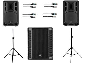 RCF ART310MK4 + RCF SUB705 Bundle inkl Stative und Kabel