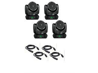 Set 4x Briteq BT-W36 L3 Moving Heads incl. Kabel