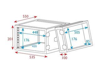 """19"""" Rack - Flightcase 4 HE, Double Door"""